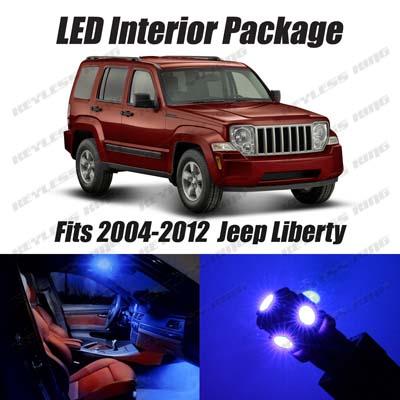 13 Pcs Led Blue Lights Interior Package Kit For Jeep Liberty 2004 2012 Ebay