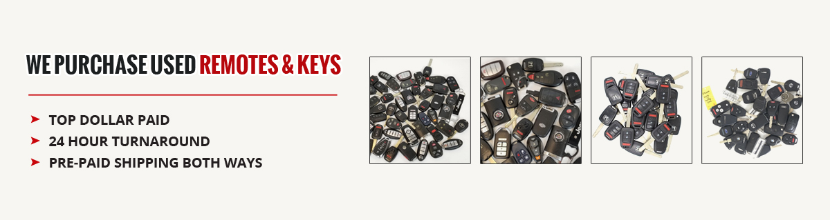 We purchase used remotes & keys